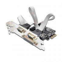 Serial and Parallel combo Interface PCI-e card, 2+1 ports