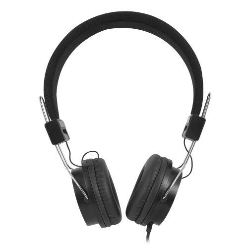Foldable on-ear headphones with soft ear cushions and adjustable headband